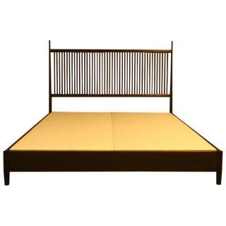 Nichol Walnut Platform Bedframe For Sale