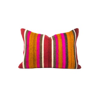 Multi-Colored Lumbar Kilim Pillow Cover For Sale