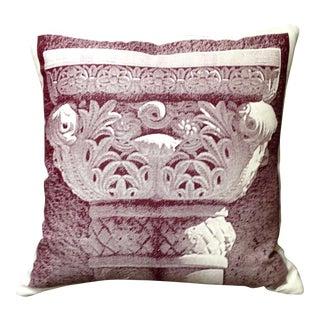 Burgundy Column Throw Pillow For Sale