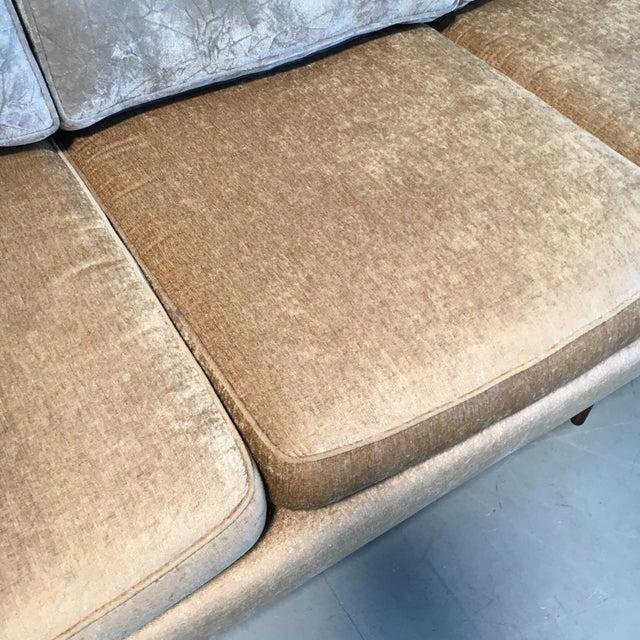 Champagne-Tone Mid-Century Modern Sofa - Image 5 of 7