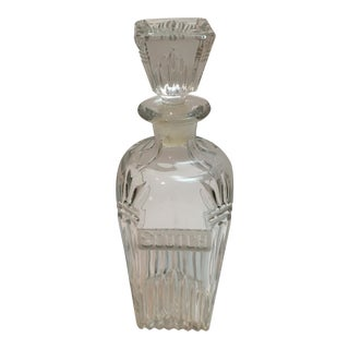 Vintage Cut Glass Scotch Decanter For Sale
