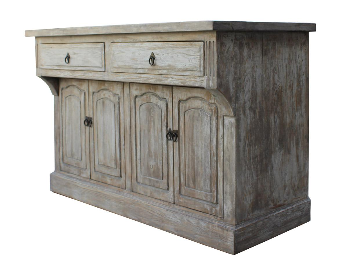 Chinese Distressed Finish High Credenza Console Buffet Table   Image 3 Of 6