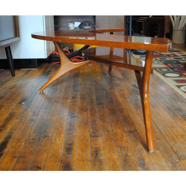 Mid Century Modern Walnut Boomerang Coffee Table 1960's