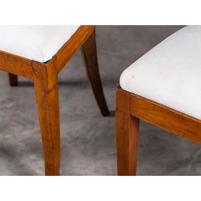 Brown Antique 1890s Italian Empire Walnut Neoclassical Chairs - a Pair For Sale - Image 8 of 13