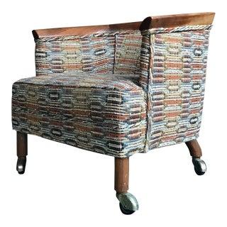 John + Lambert Lubberts Mulder Tomlinson Sophisticate Woven Slipper Chair Dunbar For Sale