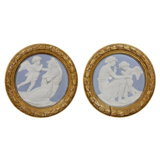 Pair of Sevres Style Biscuit Porcelain Plaques For Sale