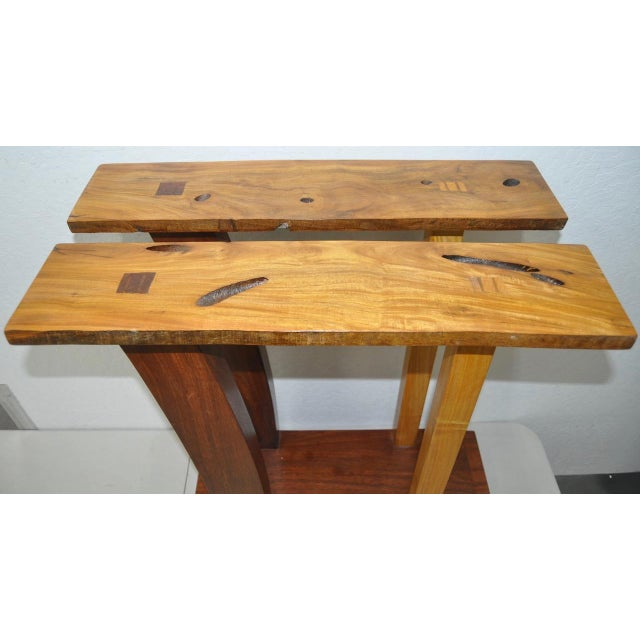 Dia Ates Hardwood Pedestal For Sale - Image 5 of 8