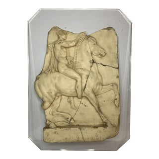 Vintage Classical Wall Relief on Plexiglass Board For Sale