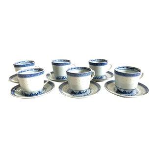 Vintage Hlc Demitasse Cups & Saucers - Service for 6 For Sale