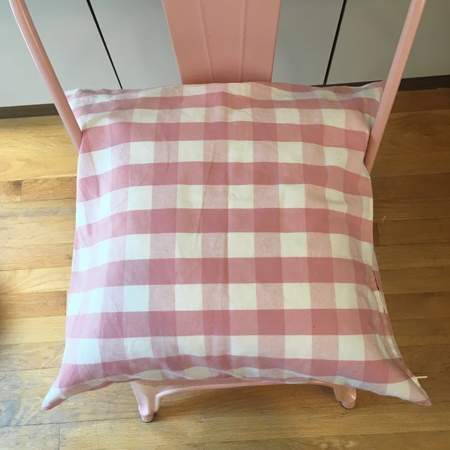 Pink Gingham Pillow Cover For Sale - Image 5 of 7