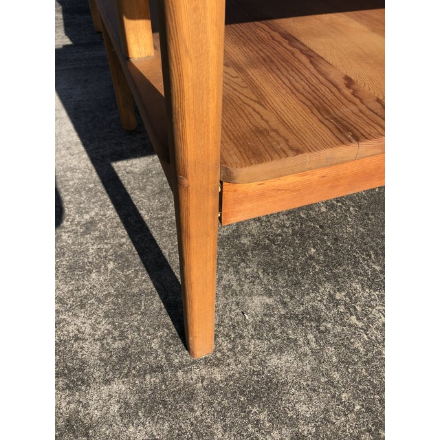 Large Pine Square Two Tier Side Tables - a Pair For Sale - Image 9 of 11
