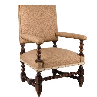 William & Mary Style Barley Twist Armchair