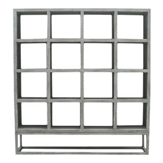 Modern Square Cube Display Shelf For Sale