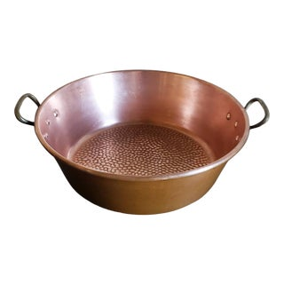 19th Century French Large Copper and Bronze Pan For Sale