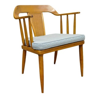 Vintage Tomlinson Sophisticate Mid Century Modern Dining Desk Arm Chair Danish B For Sale