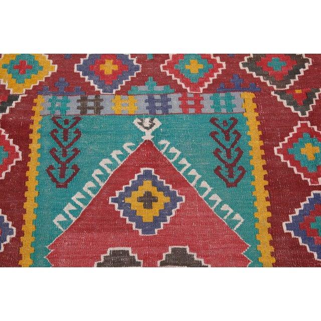Antique Turkish Wool Kilim Rug - 4′5″ × 6′3″ For Sale - Image 5 of 7