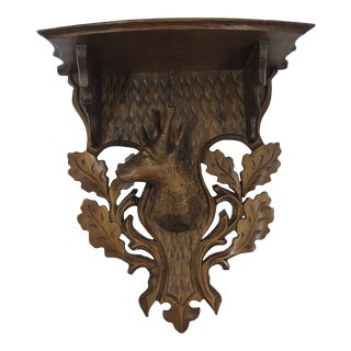 Late 20th Century Black Forrest Wall Bracket For Sale