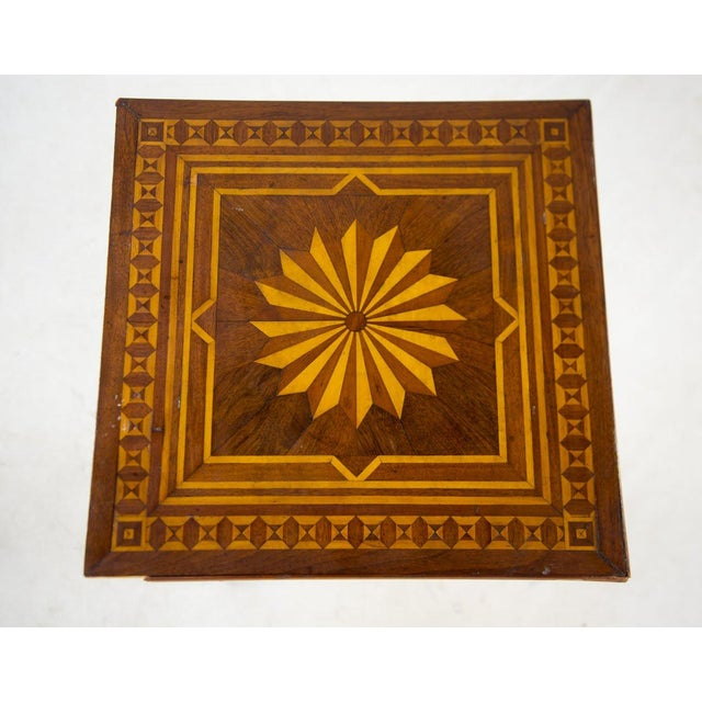 19th C. Victorian Tilt-Top Marquetry Occasional Table For Sale - Image 4 of 13