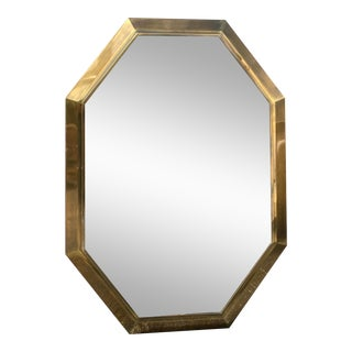 Vintage Mastercraft Brass Console Mirror For Sale