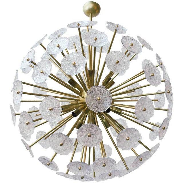 Brass Primavera Sputnik Chandelier by Fabio Ltd For Sale - Image 7 of 7