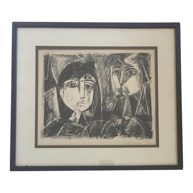 Vintage Picasso Style Lithograph For Sale