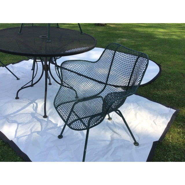 Abstract Sculptura Wrought Iron Patio Set - 5 Pieces For Sale - Image 3 of 7