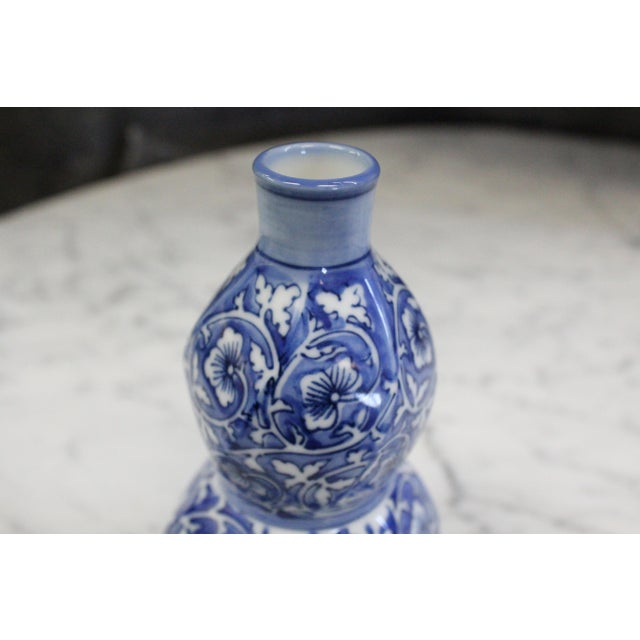 Asian Chinese Cobalt Bud Vase For Sale - Image 3 of 6