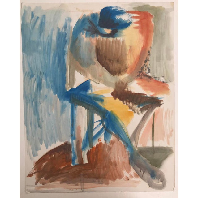Seated Figure Painting by Robert Colborne 1950s For Sale - Image 6 of 6