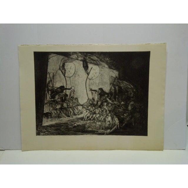 "Black Mid 20th Century Vintage ""Divertimenti"" Print by Ivan Valtchew For Sale - Image 8 of 8"