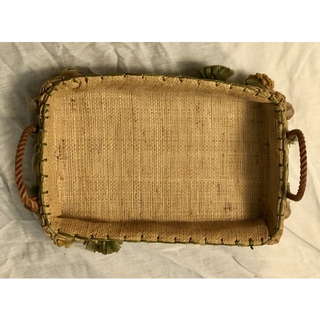20th Century Rustic Style Grass Basket For Sale In Tampa - Image 6 of 8