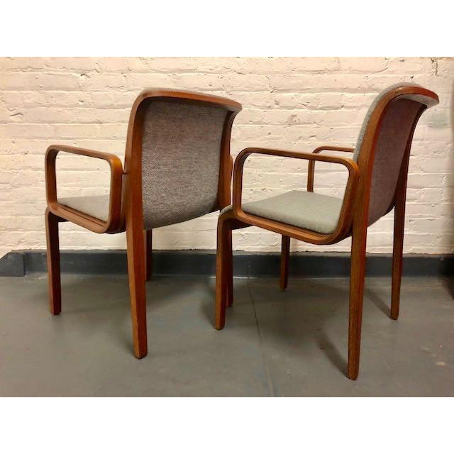 Knoll 1980s Vintage Mid-Century Modern Bill Stephens for Knoll Chairs - A Pair For Sale - Image 4 of 12