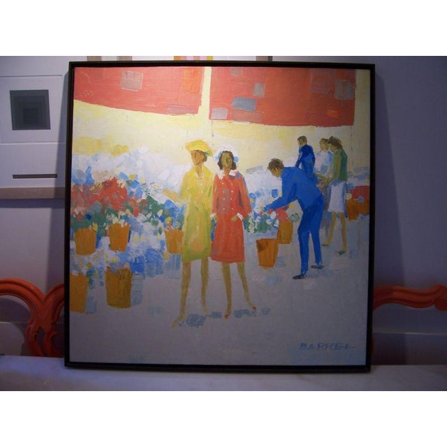 1950s Oil on Canvas by W.R. Barrel For Sale - Image 5 of 5