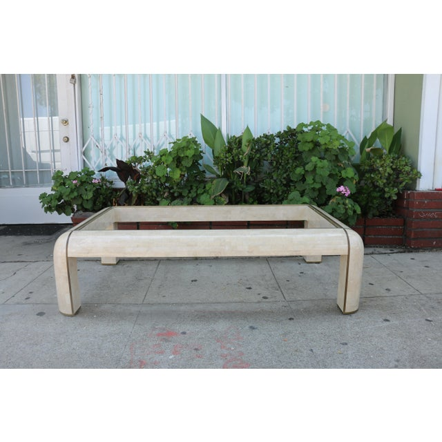 Hollywood Regency 1980s Hollywood Regency Maitland Smith Coffee Table For Sale - Image 3 of 9