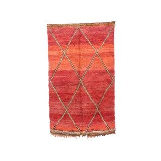 "Boujad Vintage Moroccan Rug - 5'8"" X 9'7"" For Sale"