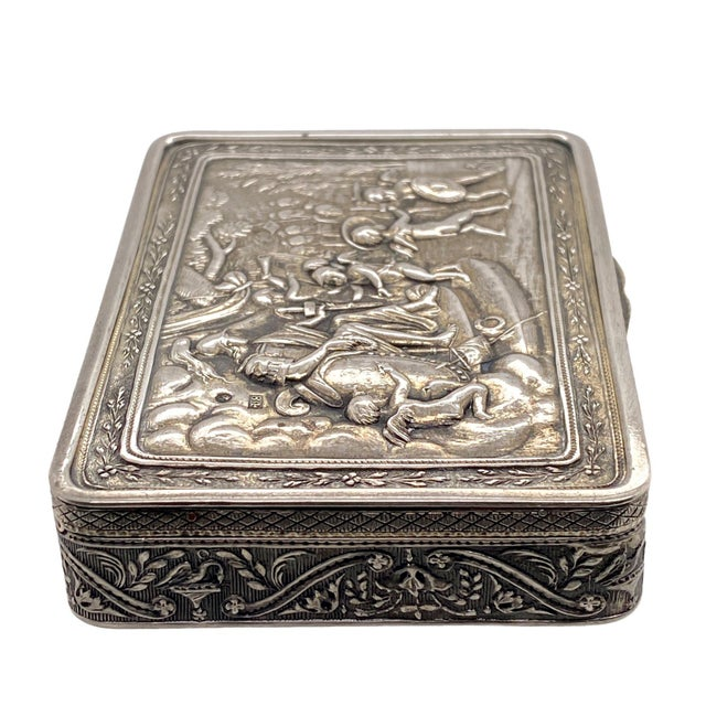 19th Century Russian Silver Box by P. Muller 1828 For Sale - Image 4 of 6