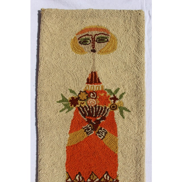 Fiber Evelyn Ackerman Girl With Birdcage & Girl With Flowers Tapestries - A Pair For Sale - Image 7 of 10