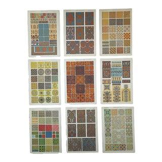 Antique 19th C. Lithographs-Ornamental Designs - Set of 9 For Sale