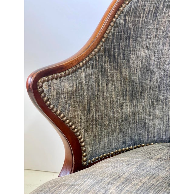 Art Deco Armchair of Mahogany, Circa 1940s For Sale - Image 9 of 13