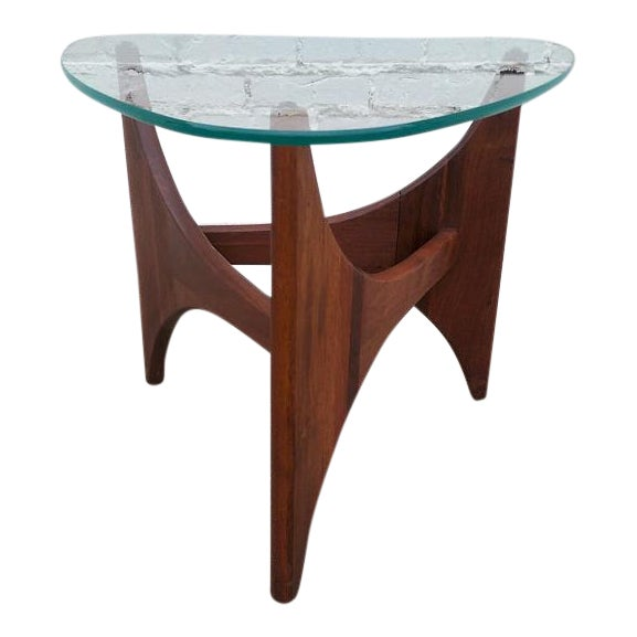 Adrian Pearsall Triangle Walnut Side Table - Image 1 of 6