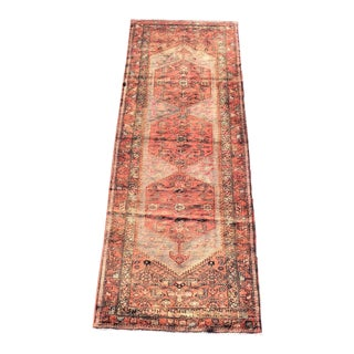 1940s Vintage Persian Hosenibad Runner Rug - 3′7″ × 10′2″ For Sale