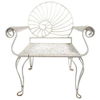 Nautilus Shell Back Arm Lounge Chair For Sale