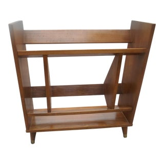 1960's Mid-Century Modern Teak Bookcase For Sale