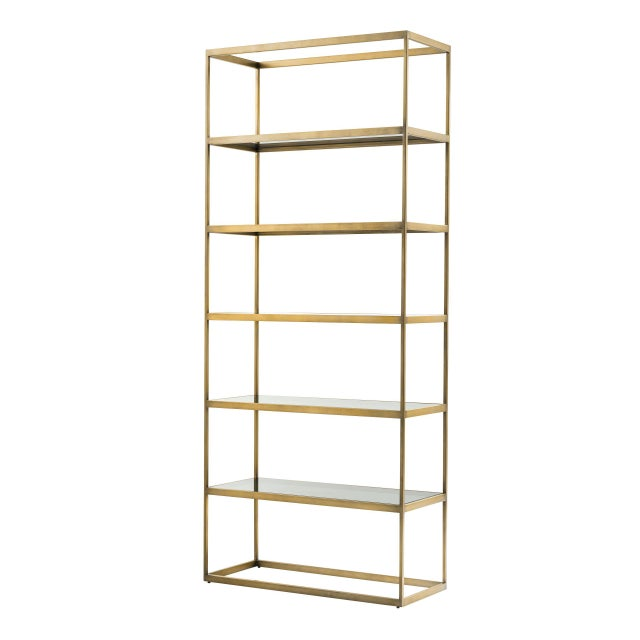 Not Yet Made - Made To Order 5 Shelf Brass Cabinet | Eichholtz Omega For Sale - Image 5 of 5