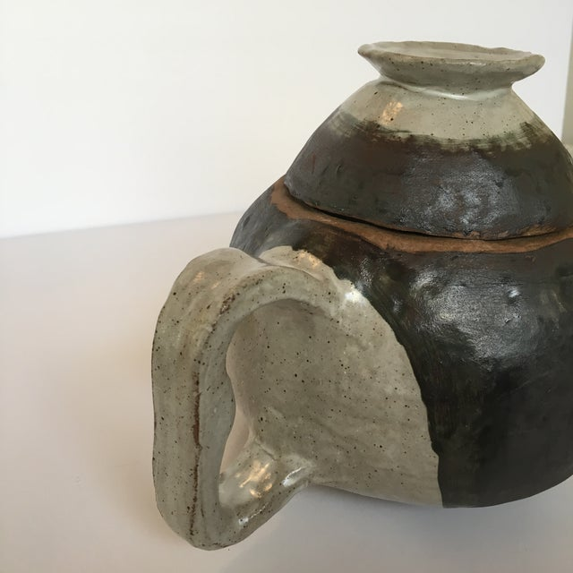 Early 21st Century Large Primitive Handmade Tea Pot For Sale - Image 5 of 11
