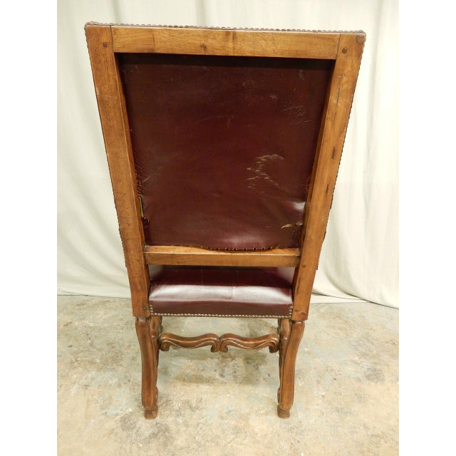 Mid 19th Century Spanish Louis XIV Style Arm Chair For Sale - Image 5 of 9