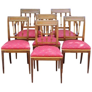 Set of Six Continental Neoclassical Dining Chairs For Sale