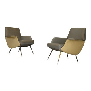 Rare Pair of Armchairs by Carlo De Carli 1950 For Sale
