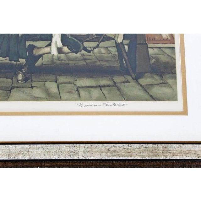 Beige 20th Century Framed Modern Illustration A.P. Litho Signed Norman Rockwell, 1936 For Sale - Image 8 of 11