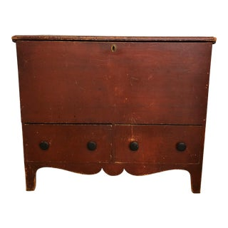 18th Century American Pine Blanket Chest For Sale
