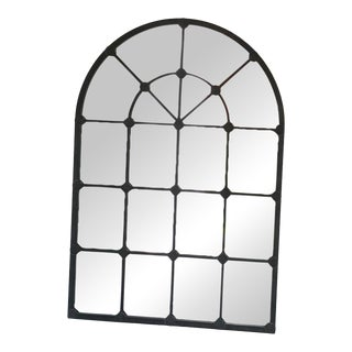 Arched Iron Mirror For Sale